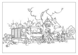 Раскраски на тему безопасность в быту. Как нарисовать пожар в доме карандашом и человека, который тушит пожар? Такие разные пожары и их последствия