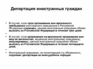 Депортация или выдворение в чем разница. Депортация иностранных граждан из россии