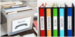 Хранение документов дома идеи. Система хранения документов дома