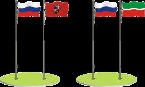 Расположение флагов. Как закрепить флаг