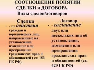 Отличия договора от сделки и обязательства. Каковы отличия сделки от договора