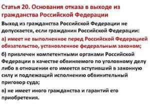 Выходу из гражданства рф не препятствуют. Процедура выхода из гражданства РФ не допускается: основания и возможные обстоятельства отказа