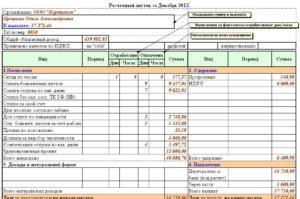 Расчетный листок по зарплате педагогов. Пример расшифровки расчетных листков по зарплате