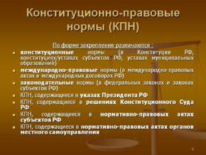 Какие нормы закреплены в конституции рф таблица. Нормы права примеры из конституции