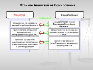 Чем отличается амнистия от помилования ук рф. В чем отличие амнистии от помилования? Правовая реабилитация в уголовном процессе
