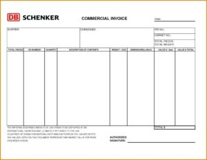 Commercial invoice образец заполнения. Инвойс