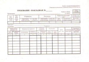 Типовая форма м 11. Требование-накладная форма М11 — образец заполнения