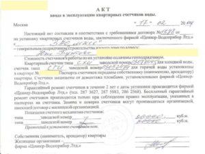 Акт ввода в эксплуатацию теплосчетчика утвержденная форма. Городского поселения талинка