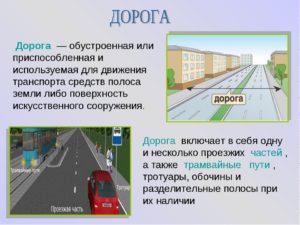 Пдд обочина определение. Что такое дорога? Основные элементы дороги – простые понятия