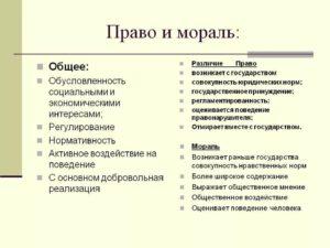 Право и мораль черты сходства и различия. Соотношение между правом и моралью