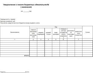 Уведомление о доведении лимитов бюджетных обязательств. Что такое лимиты бюджетных обязательств