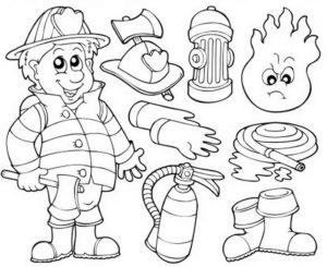 Пожарный щит раскраска. Пожарная безопасность для детей: правила, картинки